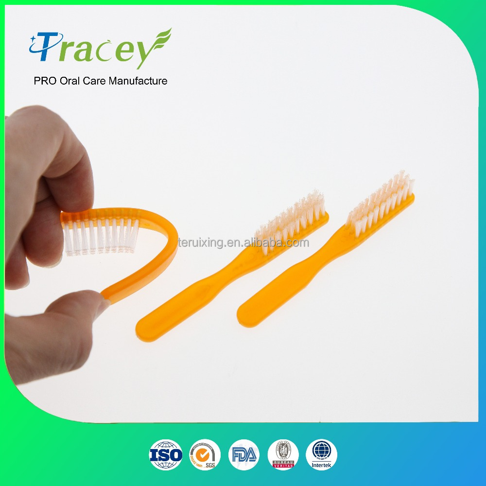 small size pocket rubber prison toothbrush short handle jails toothbrush