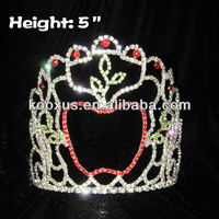 5 inch Rhinestone Apple Crowns Which Suit For Fall Pageant