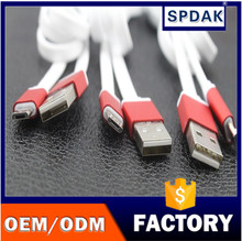 Spdak brand New 2016 factory direct flat fast speed USB 2.0 data sync charging cable for cell phones smartphones