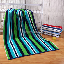 100% Cotton Yarn Dyed Woven Stripe Beach towel promotional/ Flag Beach Towel cotton