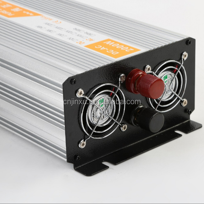 Solar Power Inverter 2000W Pure Sine Wave Inverter 24V <strong>DC</strong> to 220V AC Converter Power Supply