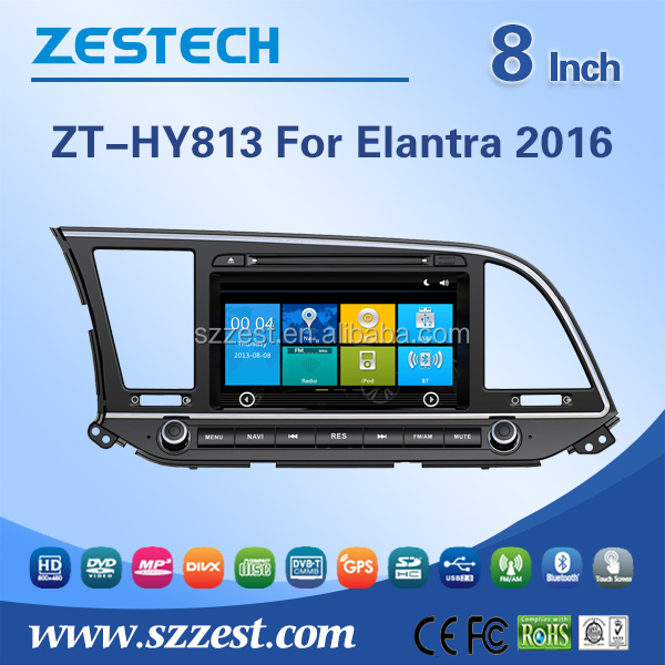 China navigation dvd for Hyundai Elantra 2016 bluetooth tv car radio receive
