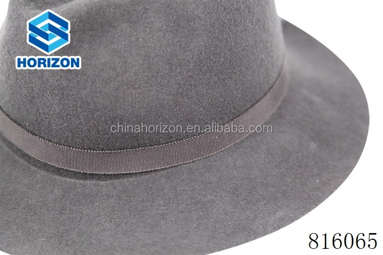Adults Age Group and Plain Pattern wool hat men fedora hat