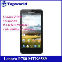 Best Price Original MTK6589 Quad Core 1.2GHz 1GB RAM 4GB ROM Dual Sim 1280x720P Lenovo P780 Smart Phone