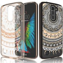 C&T Flowers Transparent Cute Lovely Adorable Clear Hard TPU Skin Scratch-Proof Bumper Phone Back Cover Case For LG K10 2017