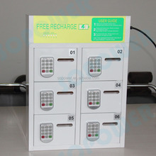 public wall mount portable multi mobile phones charging station lockers