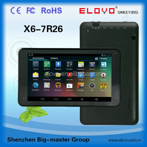 2014 game android tablet 7 inch RK3026 dual core 512M/4G storage smart android tablet pc