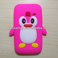 cute penguin silicone back cover case for Samsung S6802
