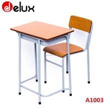 factory cheap sale school furniture/education furniture/school desk and chair top sale used school furniture A1003