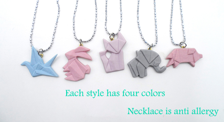 ceramic origami crane origami jewelry charms anti allergy origami different colors for gifts