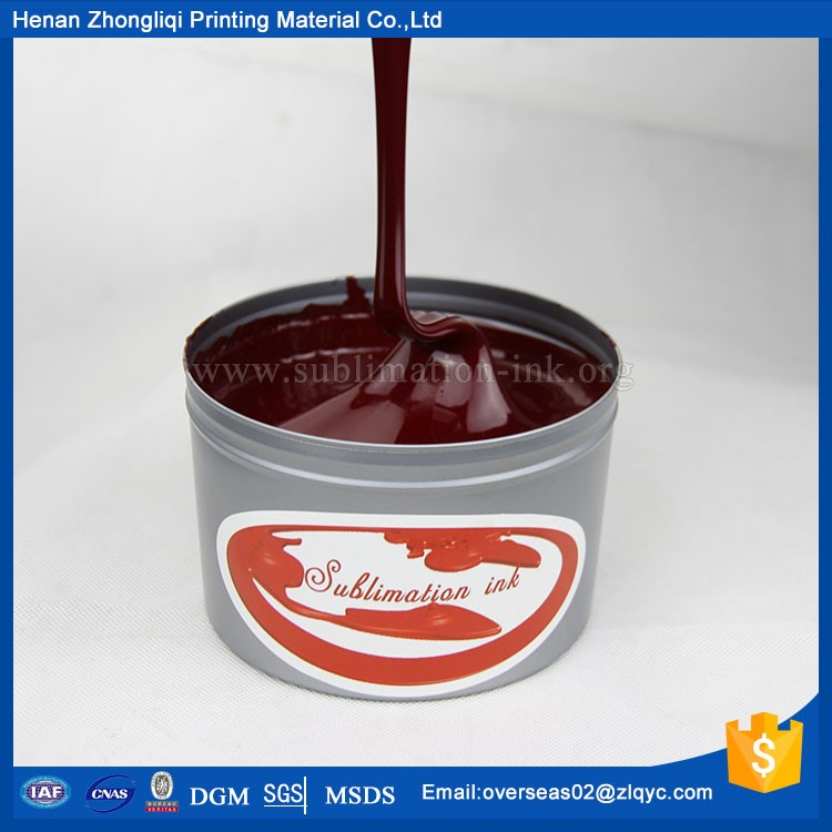 sublimation offset ink for polyester saturated bright color