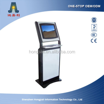 floor standing shopping mall lcd advertising display touch screen kiosk (HJL-2010)