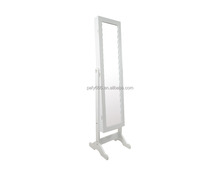 Home Furniture floor stand wooden full-length mirrored jewelry armoire