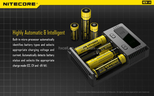 Nitecore charger I4 rechargeable battery charger/Nitecore New I4 Universal rechargeable 3.7V Li-ion Battery charger
