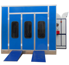 Large powder coating booth is a model spray booth with BELIMO damper actuator