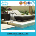 Cheap Waterproof Sun Bed Outdoor Swimming Pool Side Sun Lounger