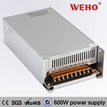 S-600-12 600w switching 50a 12v ac-dc constant voltage led driver power supply