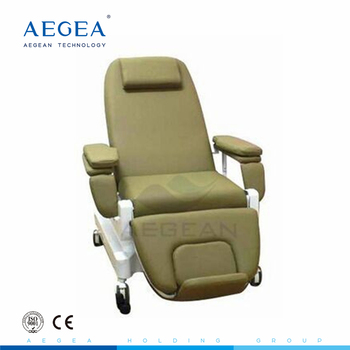 AG-XD206A height adjustable hospital blood donation recliner bariatric phlebotomy chair with IV stand
