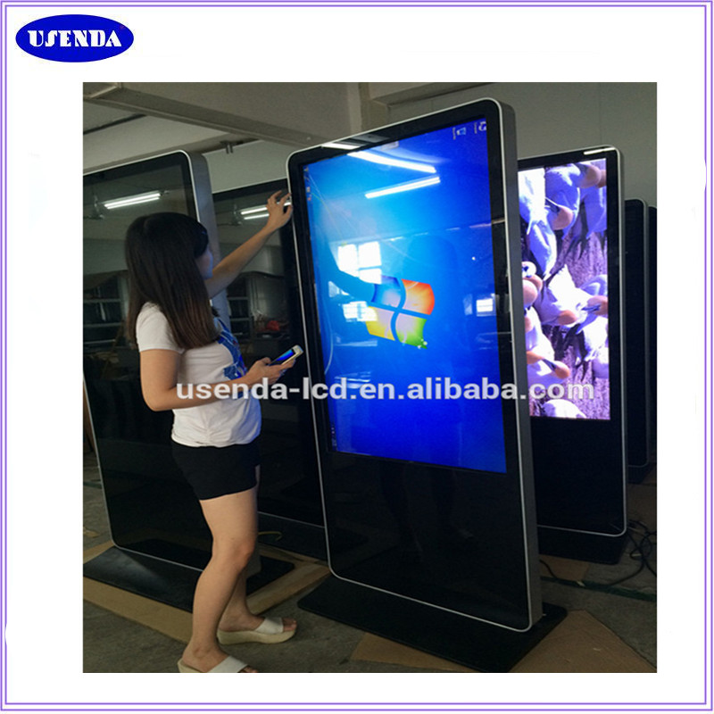 Custom 65 inch mall free standing lcd digital advertising kiosk