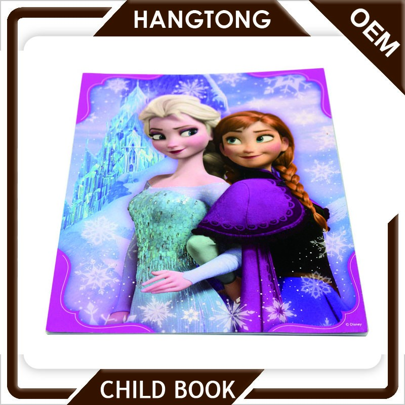 Custom childrens picture laminated child drawing book printing