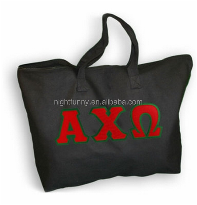 Alpha Chi Omega Lettered Tote Bag