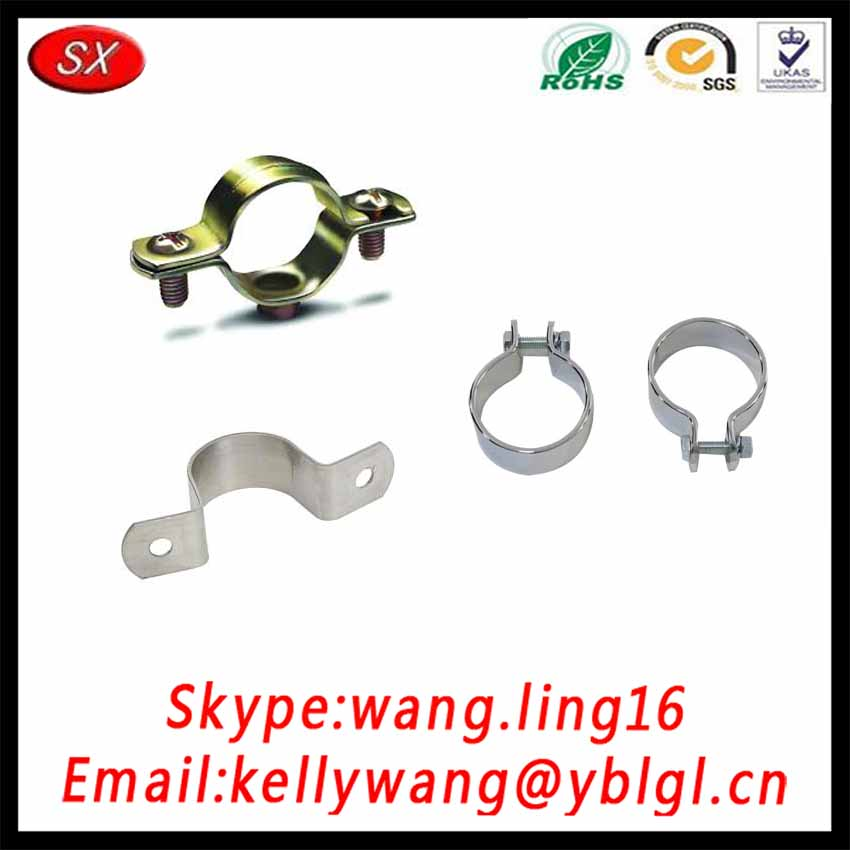SX Factory OEM Steel Pipe Tube Hanger Pipe Clamp,Double Hole Joint Clamp