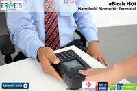eBiosk - H01: Compact Biometric Handheld terminal / Device with Lumidigm Mercury Sensor and GPRS
