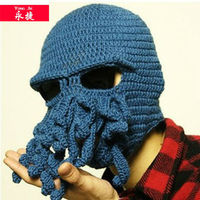 winter cheap wholesale customize knit octopus ski mask hat