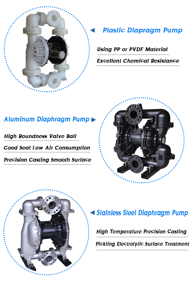3 inch Flange Diaphragm Acid-proof Submersible Pump Use Of Various Fields
