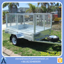 7*4 New Type Galvanized Sheet Utility Box Trailer / small utility trailers