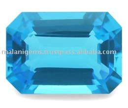 Natural Blue Topaz Emerald Cut Loose Stone