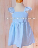 Beautiful Chidren Summer Clothes Cheap Cotton Fabric Baby Frock Design