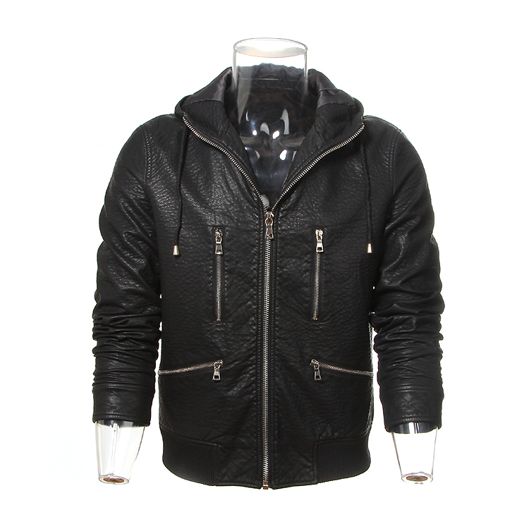 Fashion genuine men leather jacket manufacturers