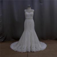 Real photo summer style beach wedding dress light blue