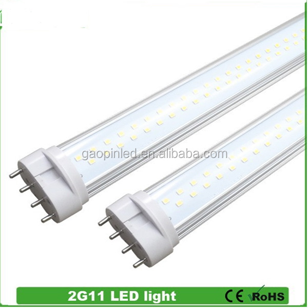 Customized new arrival CE,ROSH,EPISTAR 2g11 led tube 15w replace pll 36w lamp