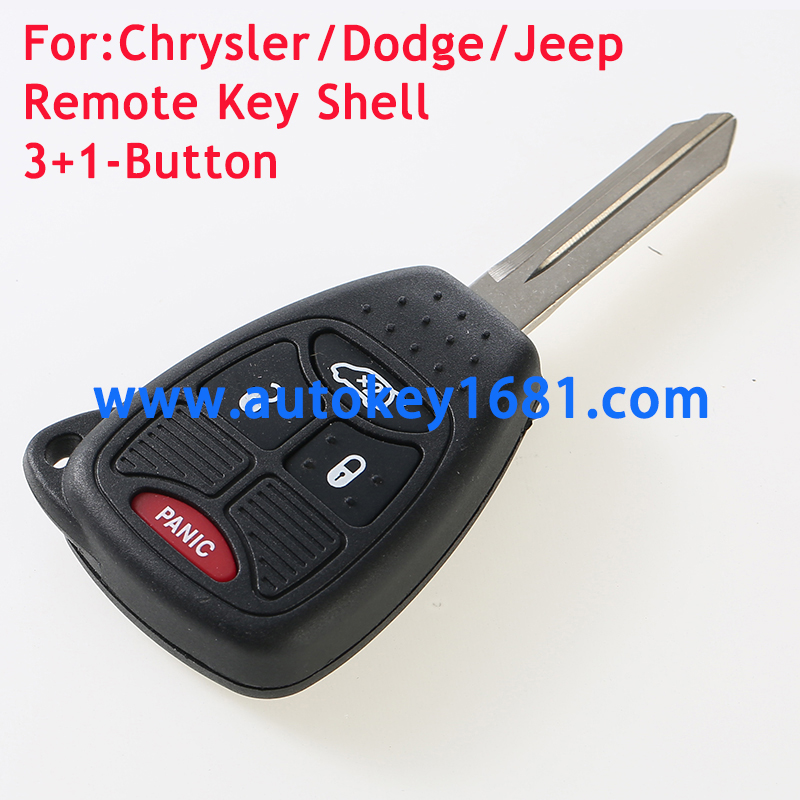 3+1Button Remote Key Shell case for Chrysler Dodge car key