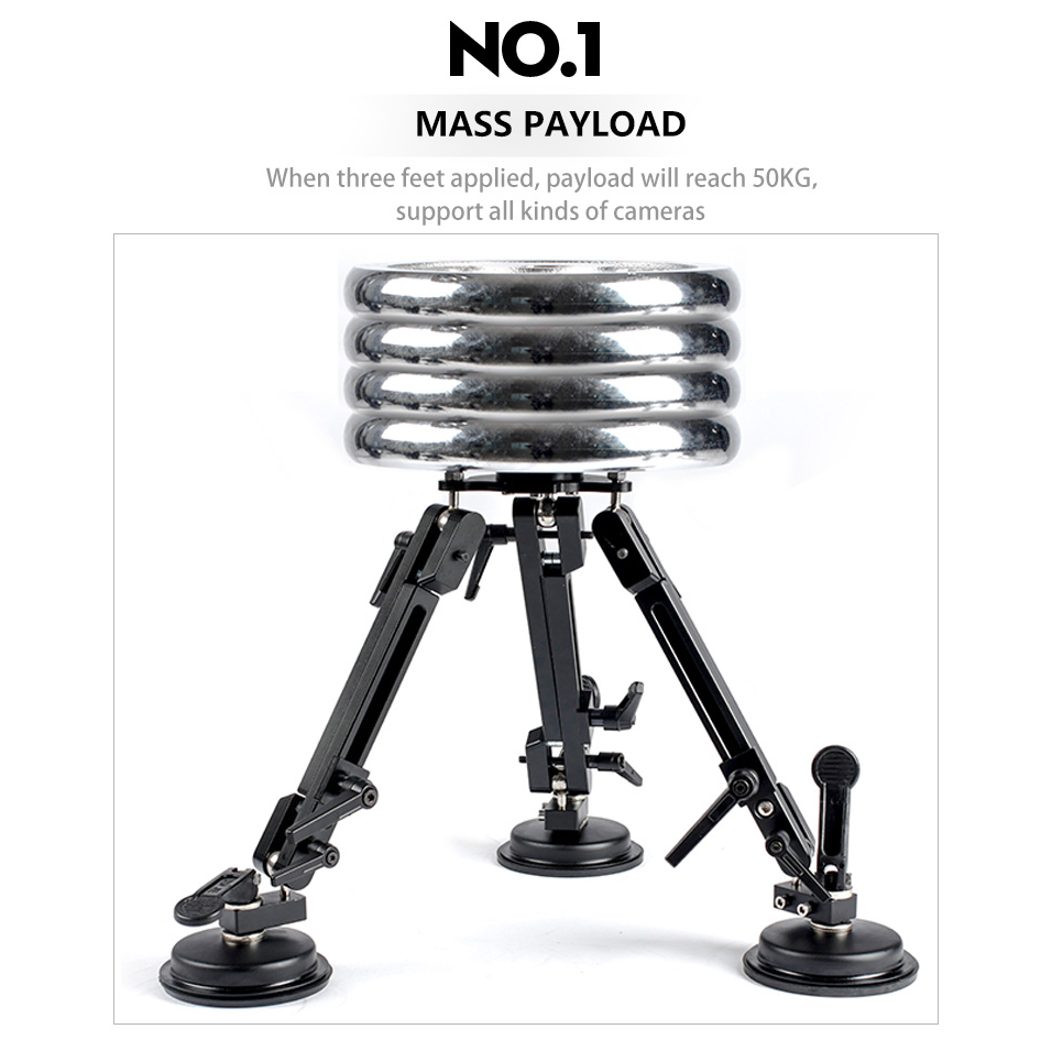 Factory Directly Supply fashional black tripod head with OEM service