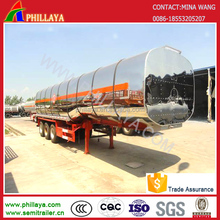 4 AXLES 90cbm beer transporter TANK SEMI TRAILERS FOR SALE(stainless steel or aluminum)