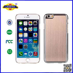 LUXURY BRUSHED ALUMINIUM HARD BACK CASE COVER FOR IPHONE 6 5 5S 5C
