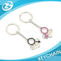 Personalized eco Couple Keychain for Valentines Gift