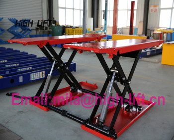 3.5T Full Movable scissor lift for tyre work shop