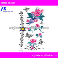 Rose Tattoo Sticker Waterproof Design For Body Lure And Sexy