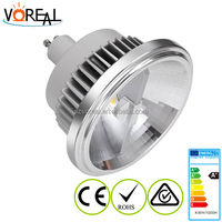 high power 15w dimmable led lamp ar111 g53 220v with tuv and saa approved external driver