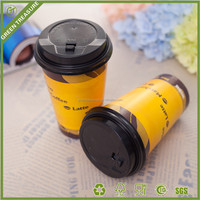 16oz Hard Single wall Hot Cold Drinking Paper Cups Cup Full Size Carbonated Beverage Paper Cups