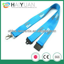 Promotional silk screen printing lanyard 25mm for key chain or phone holder