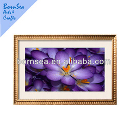 Purple petal Framed Art Print Hanging art wall decoration