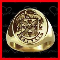 New design fashion stainless steel mens gold signet rings