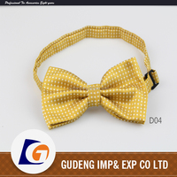 Wholesale custom fashion polyester bow ties for mens