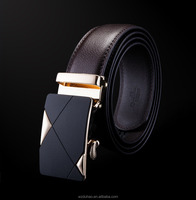 New Designer Luxuy Custom Laser Logo Automatic Belts Cow hide Leather Belt For Man