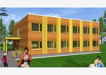 new recycling high containerized school real estate